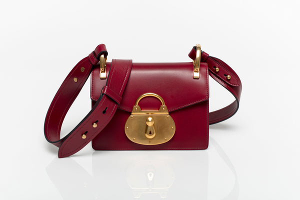 Pattina Burgundy Leather Shoulder Bag