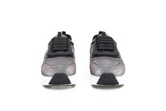 Metallic Grey Lurex Sneakers
