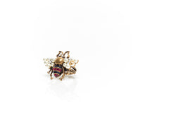 Bee Crystal and Pearl Ring