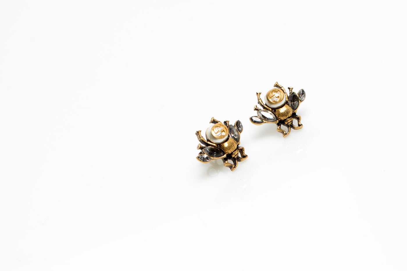 Brass and crystal earrings Gucci Z6Y0ZbevFK