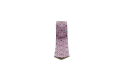 Purple Embroidered Silk Tie
