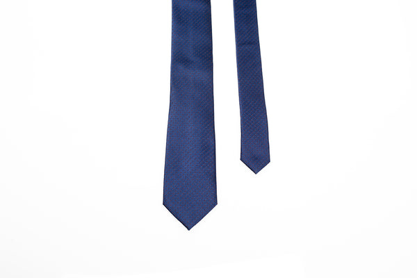 Navy Blue Detailed Tie