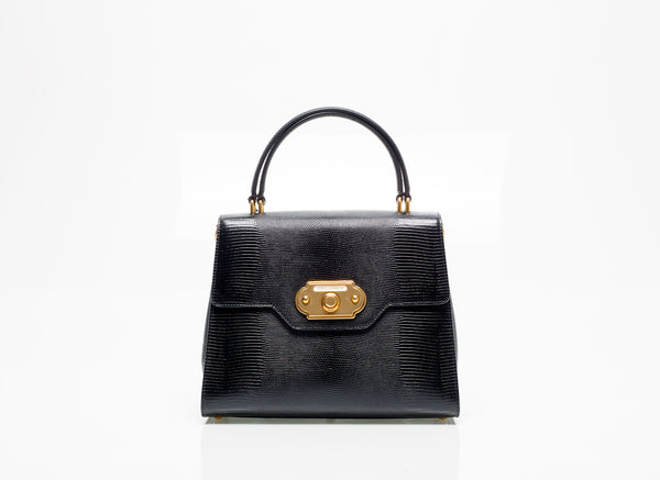 Black Leather Welcome Bag