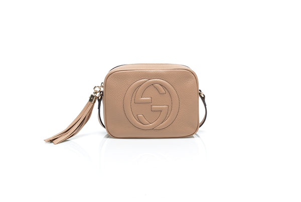 Soho Disco Beige Leather Shoulder Bag