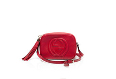Soho Disco Red Leather Shoulder Bag