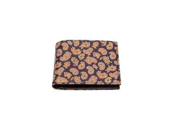 Etro Leather Paisley Wallet