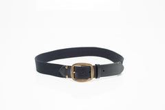 Black Leather and Canvas Belt