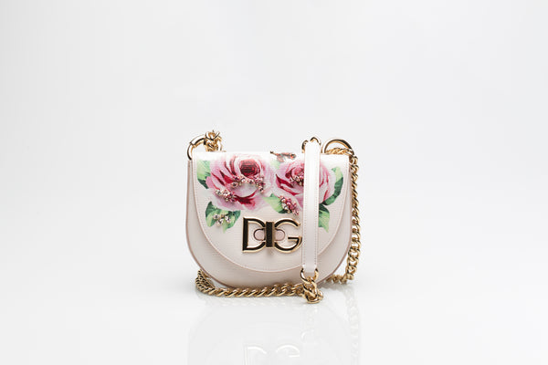 Small Wifi Embellished Rose Print Bag