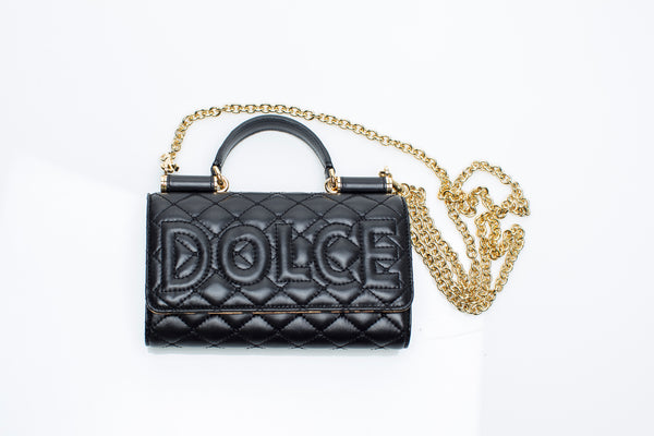 Black Quilted Mini Von Bag