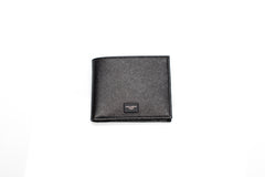 Black Leather Textured Wallet