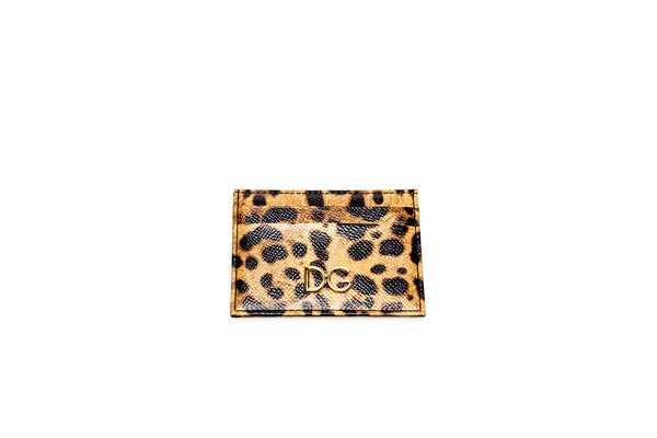 Printed Leopard Card Holder