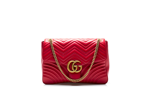 Large GG Marmont Red Shoulder Bag