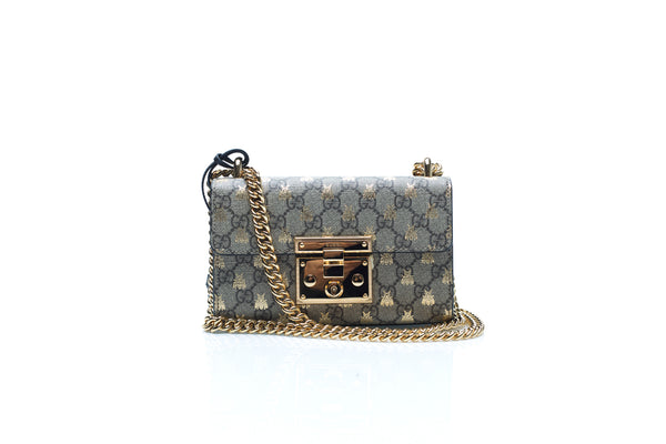 GG Small Supreme Canvas Bee Shoulder Bag