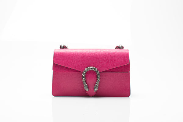 Dionysus Pink Leather Shoulder Bag