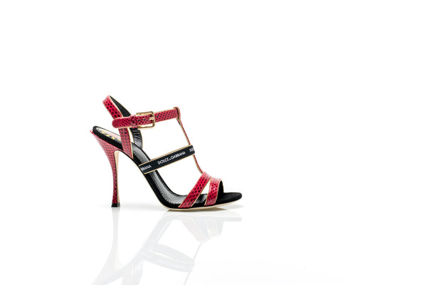 Keira Snakeskin and Suede Sandals