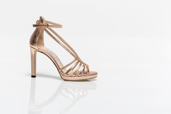 Federica Metallic Gold Leather Sandals