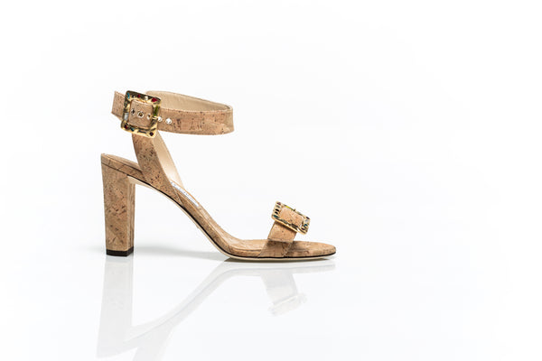 Dacha Cork Sandals with Jewelled Buckle