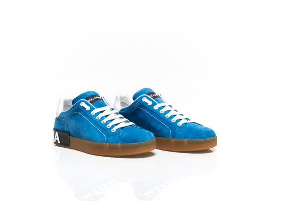 Portofino Sneakers in Blue Suede