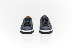 Roma Sneakers In Navy Nappa Leather
