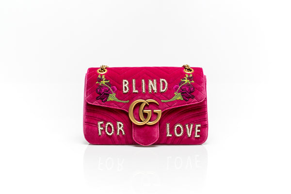 GG Marmont BLIND FOR LOVE Pink Handbag