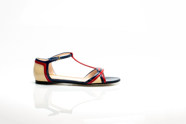 Patent Flat Leather Sandals