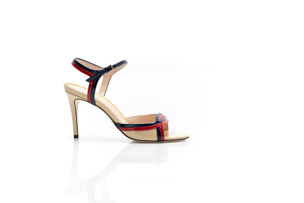Millie Patent Leather Ankle Strap Sandals