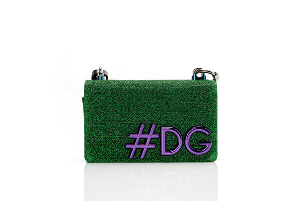 DG Girls Green Metallic Shoulder Bag