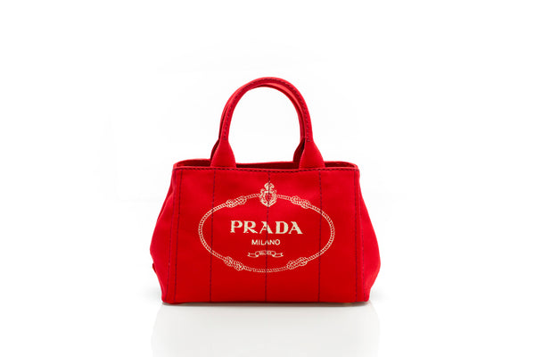 Giardiniera Red Printed Canvas Tote Bag