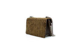 Dionysus velvet embossed shoulder bag