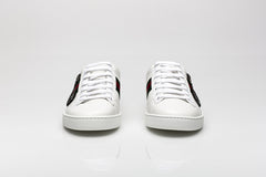 Ace Crystal Embellished Leather Sneakers