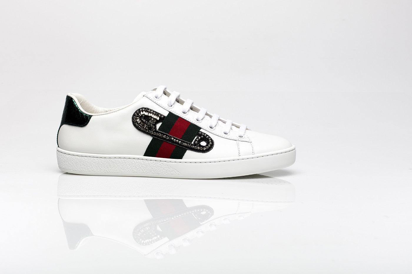 18859846cd21 Gucci Womens Ace Embellished Sneakers