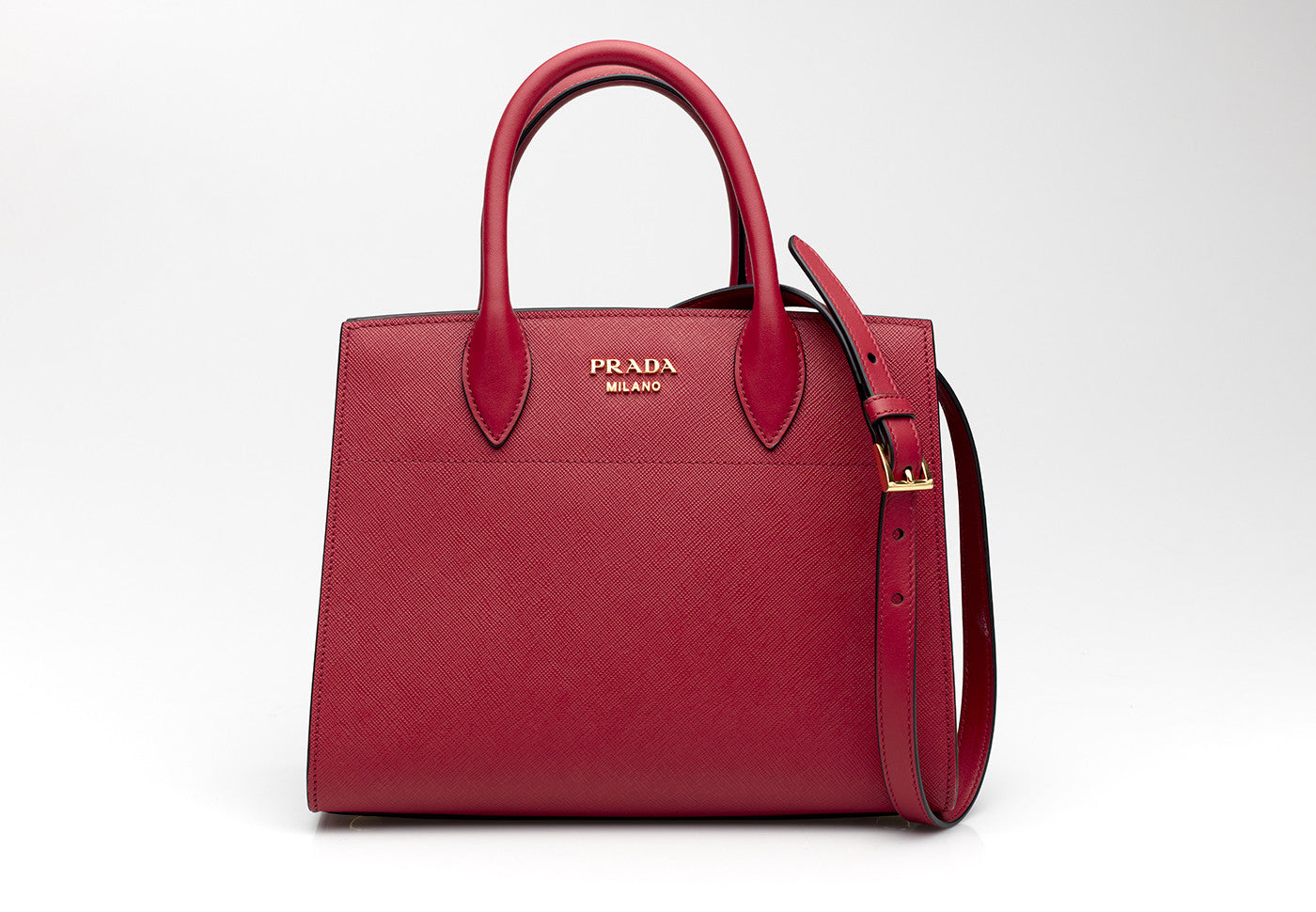 28abc9c68768 ... Bibliotheque Mini Textured Red Leather Tote ...