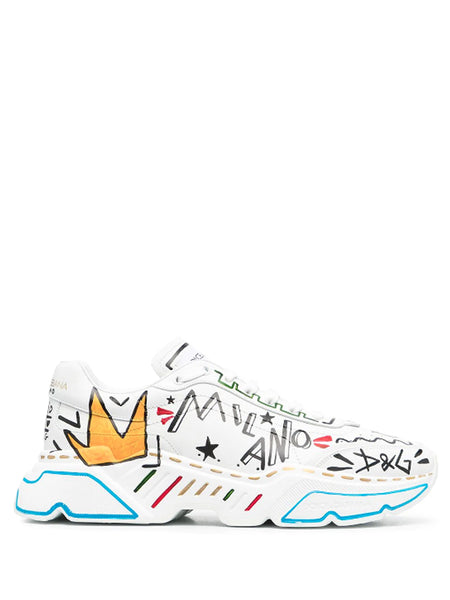 Dolce & Gabbana Daymaster Hand-Painted Sneakers