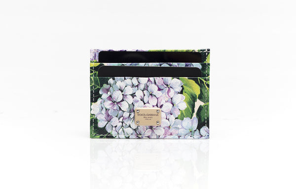 Floral Printed Leather Cardholder