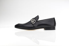 Donnie GG Black Leather Loafers