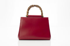 Angel Red Bamboo Handle Tote