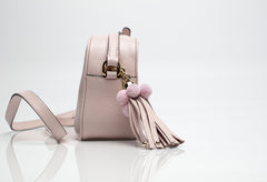 Glam Pink Leather Shoulder Bag