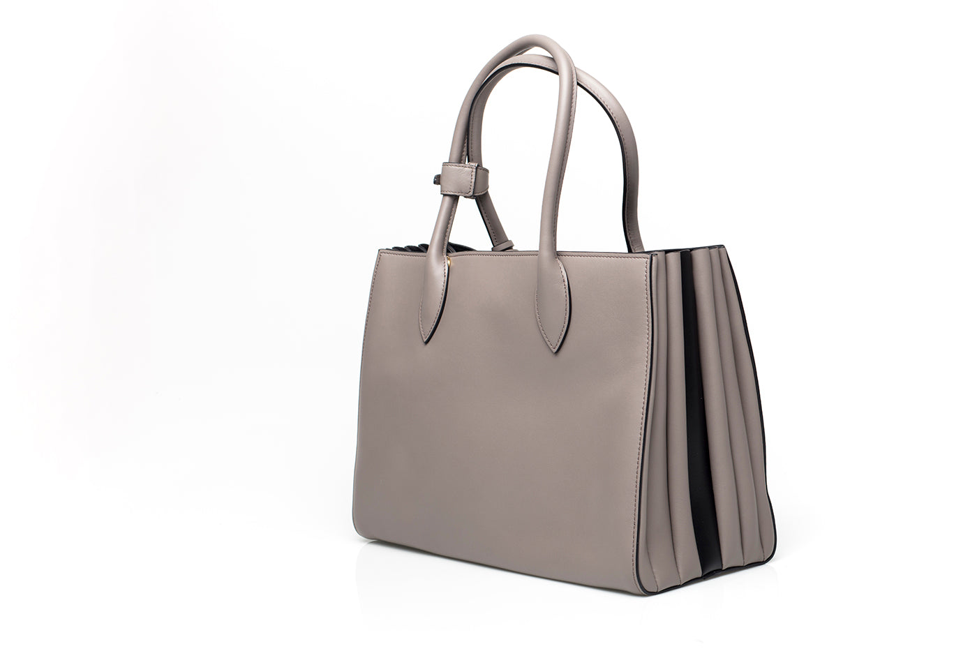 4bdc3ee36509 ... Bibliothèque Grey Leather Tote ...