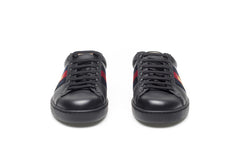 Ace Black Leather Sneakers