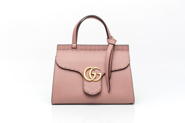 GG Marmont Rose Leather Mini Bag