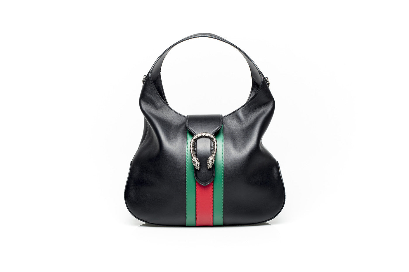 775870a8cf3b Gucci Womens GG Supreme Black Leather Hobo