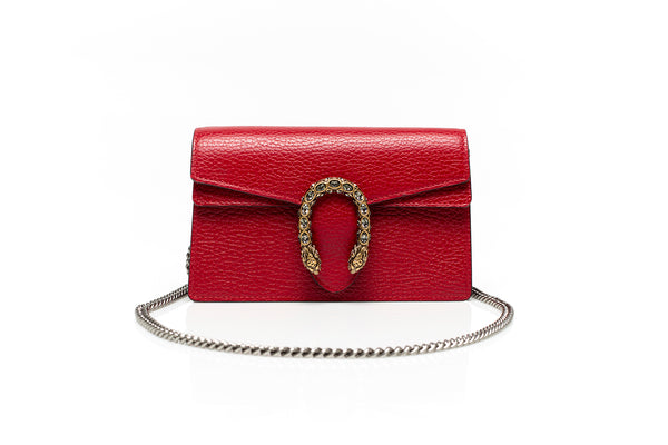 Dionysus Red Leather Mini Chain Bag