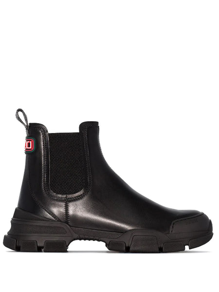 Gucci Black Leather Chelsea Boots