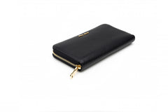 Madras Black Leather Wallet