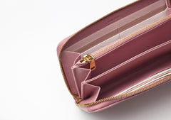 Madras Pink Leather Wallet