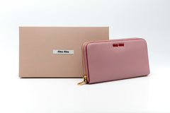 Madras Pink/Red Leather Wallet