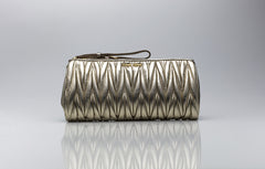 Matelassé Clutch Bag