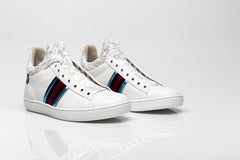 Miro White High Top Leather Sneakers