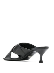 Prada Cross Over Leather Sandals