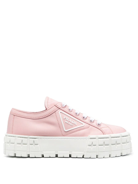 Prada Pink Tyre Low Top Sneakers